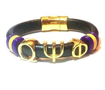 Bracelet/ Men's Omega Black Leather