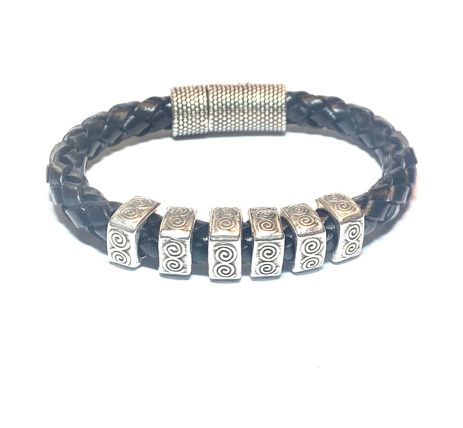 Bracelet | Men's Black Rope Style