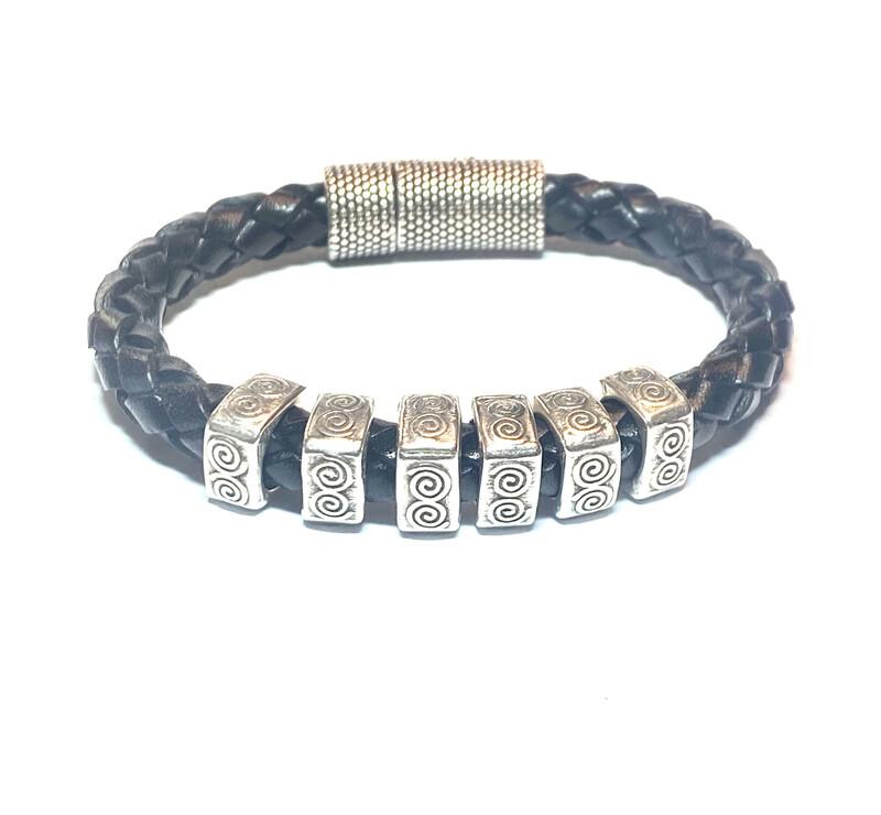 Bracelet   Men's Black Rope Style