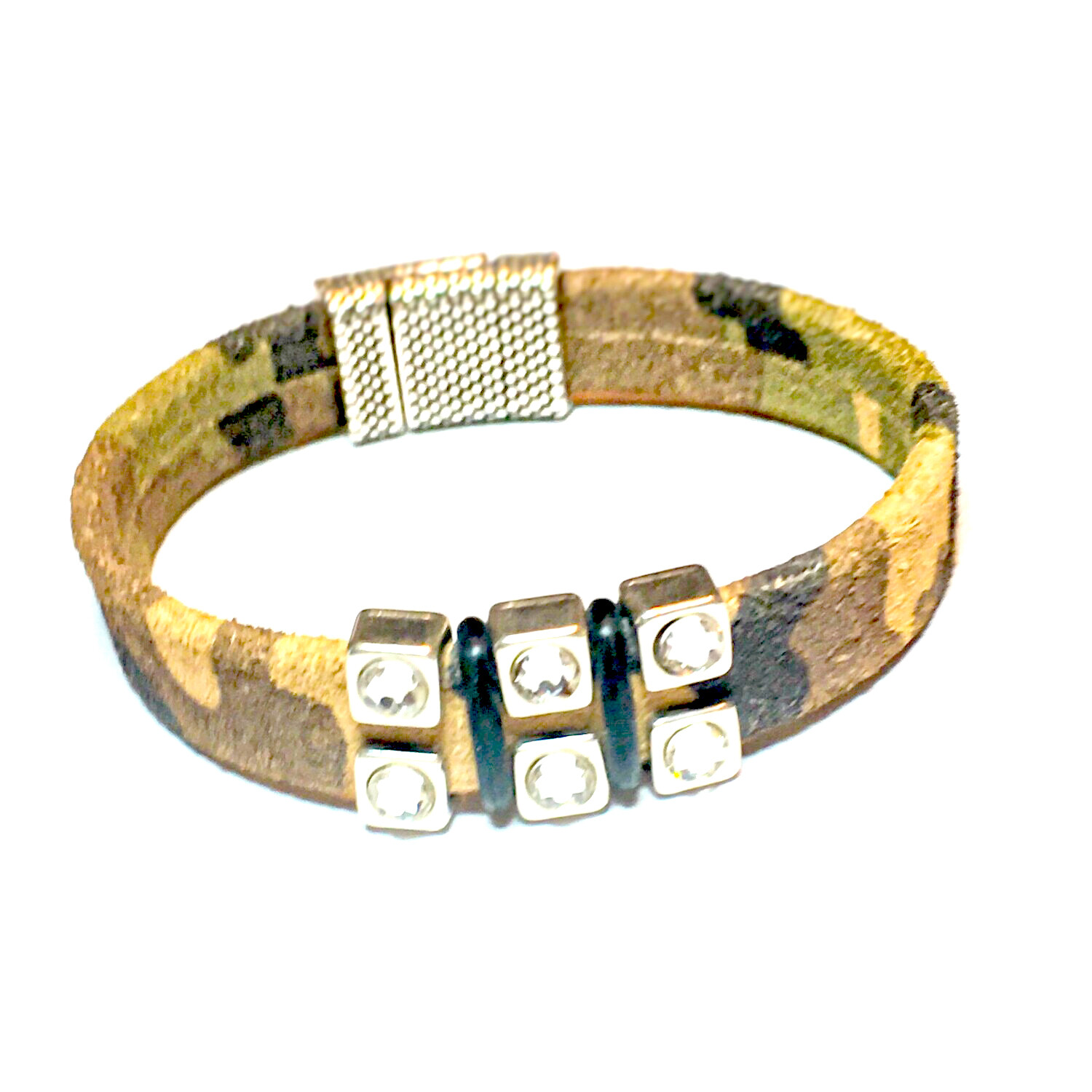 Bracelet | Women's Camo Suede With Bling