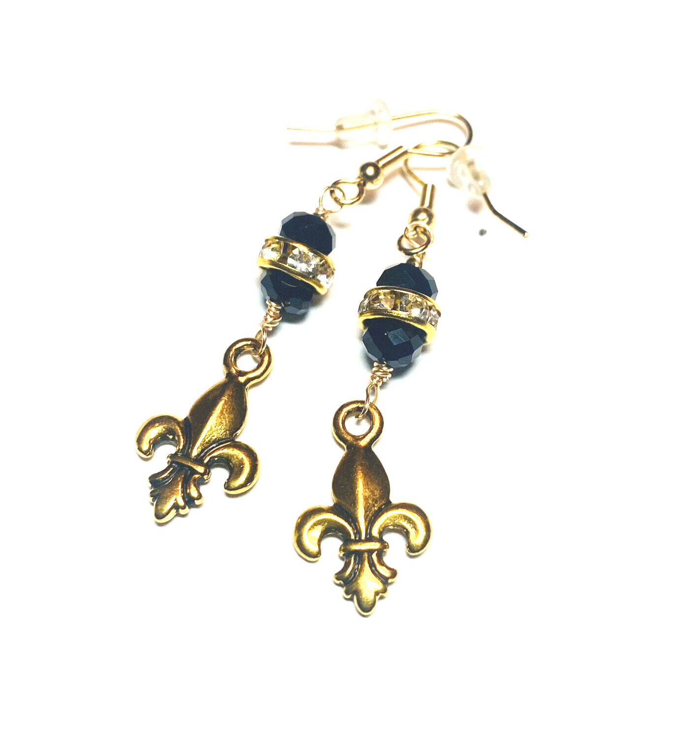 Saints Black And Gold Earrings