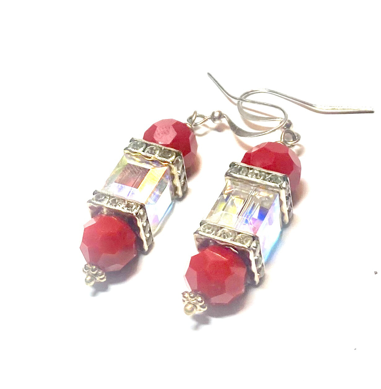 Women's/ Red Bling Earrings