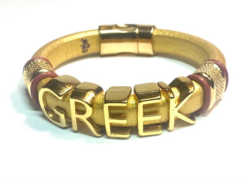 Bracelet   Men's Greek Custom Style