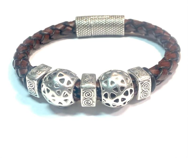 Bracelet | Men's Brown Rope Style