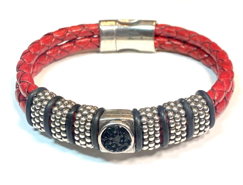 Bracelet | Men's Red Doubled Rope Bracelet