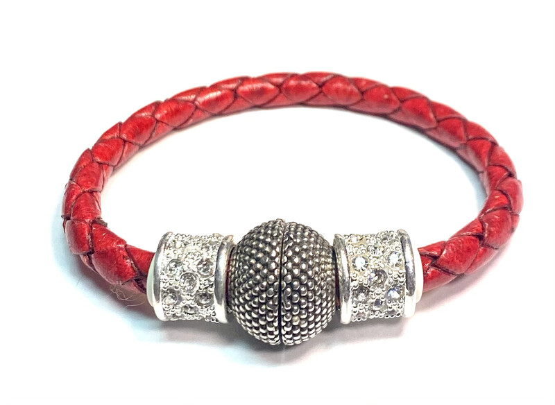 Bracelet | Women's Red Rope With Bling