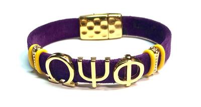 Bracelet/ Men's Omega Purple Suede Leather