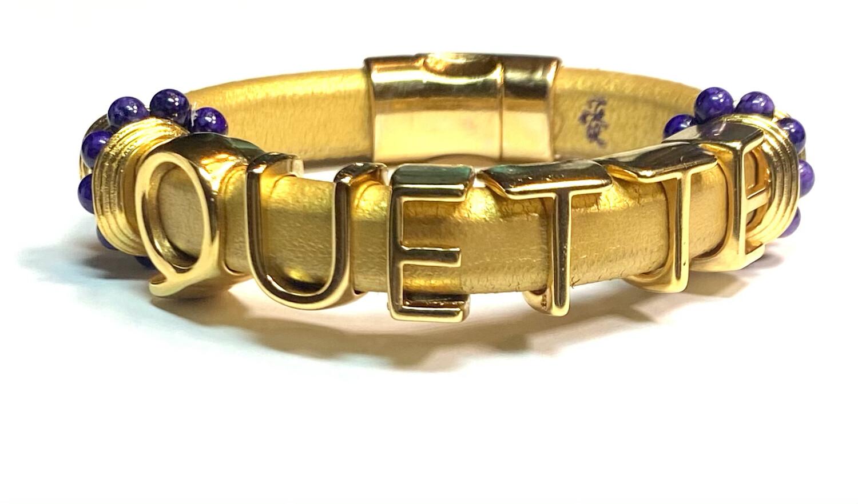 Bracelet/ Quette Gold Leather