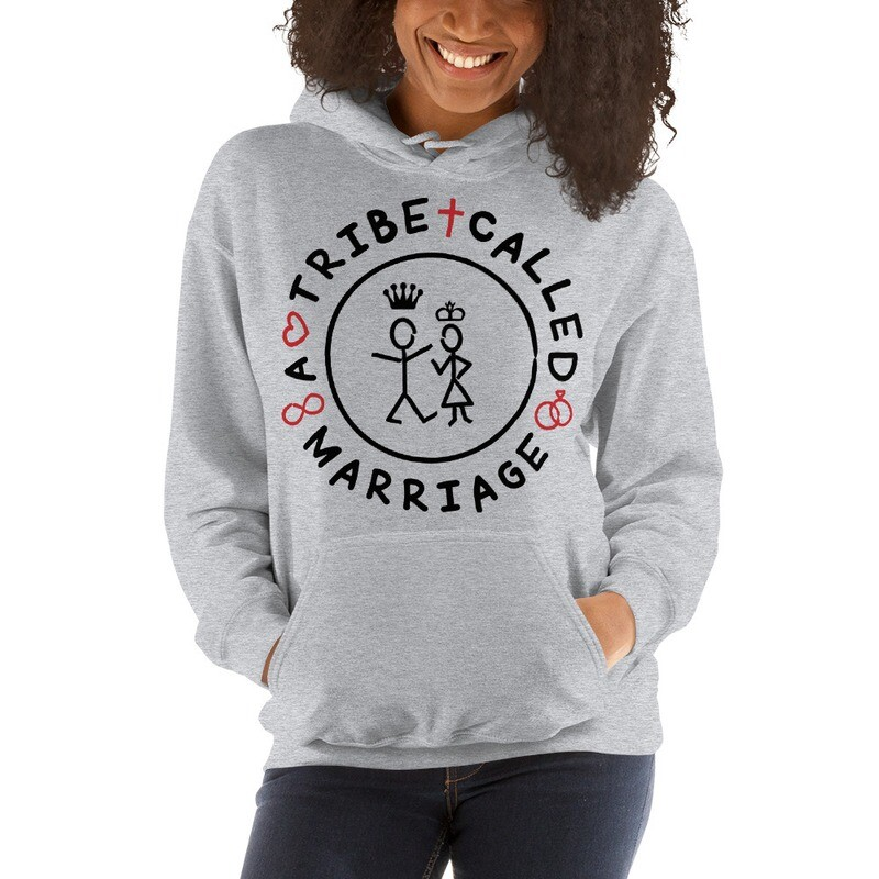 A.T.C.M(A Tribe Called Marriage) -  Unisex Hoodie - Grey