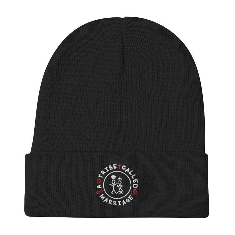 A.T.C.M.(A Tribe Called Marriage Skully) - Embroidered Beanie - Black