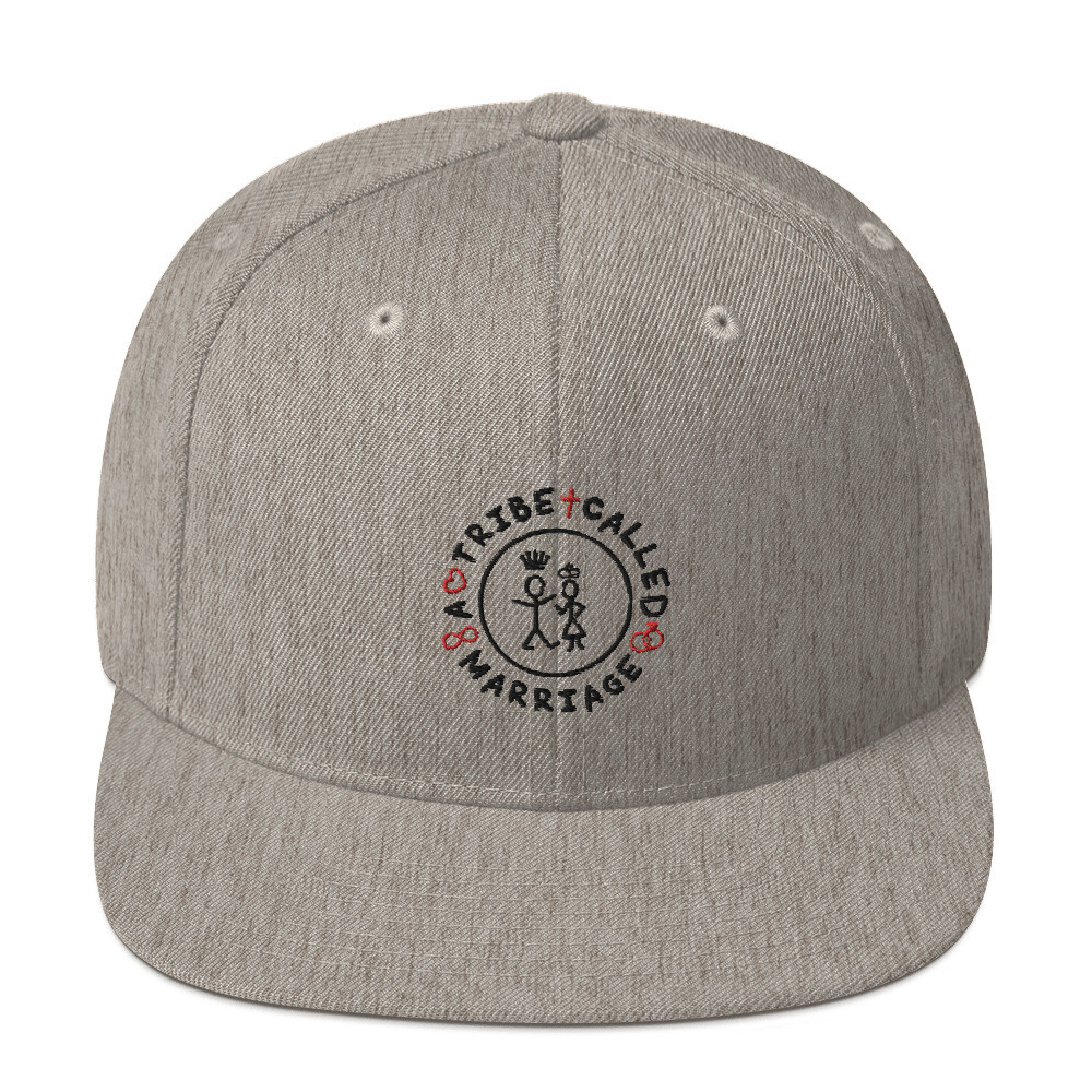 A.T.C.M.(A Tribe Called Marriage) -  Snapback Hat - Heather Grey