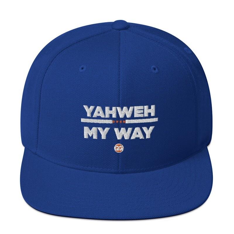 YAHWEH OVER MY WAY - ROYAL BLUE Snapback Hat