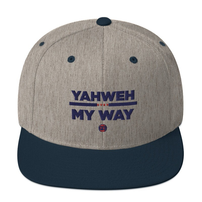 YAHWEH OVER MY WAY - NAVY AND GREY Snapback Hat