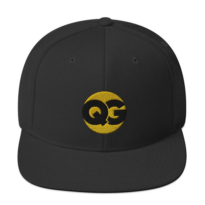 QG - BLACK ON GOLD - Snapback Hat