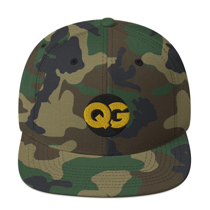 QG - CAMO GOLD on BLACK - Snapback Hat