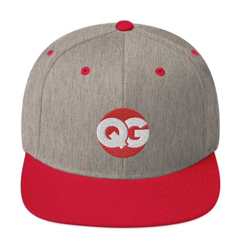 QG - Grey and Red - Snapback Hat