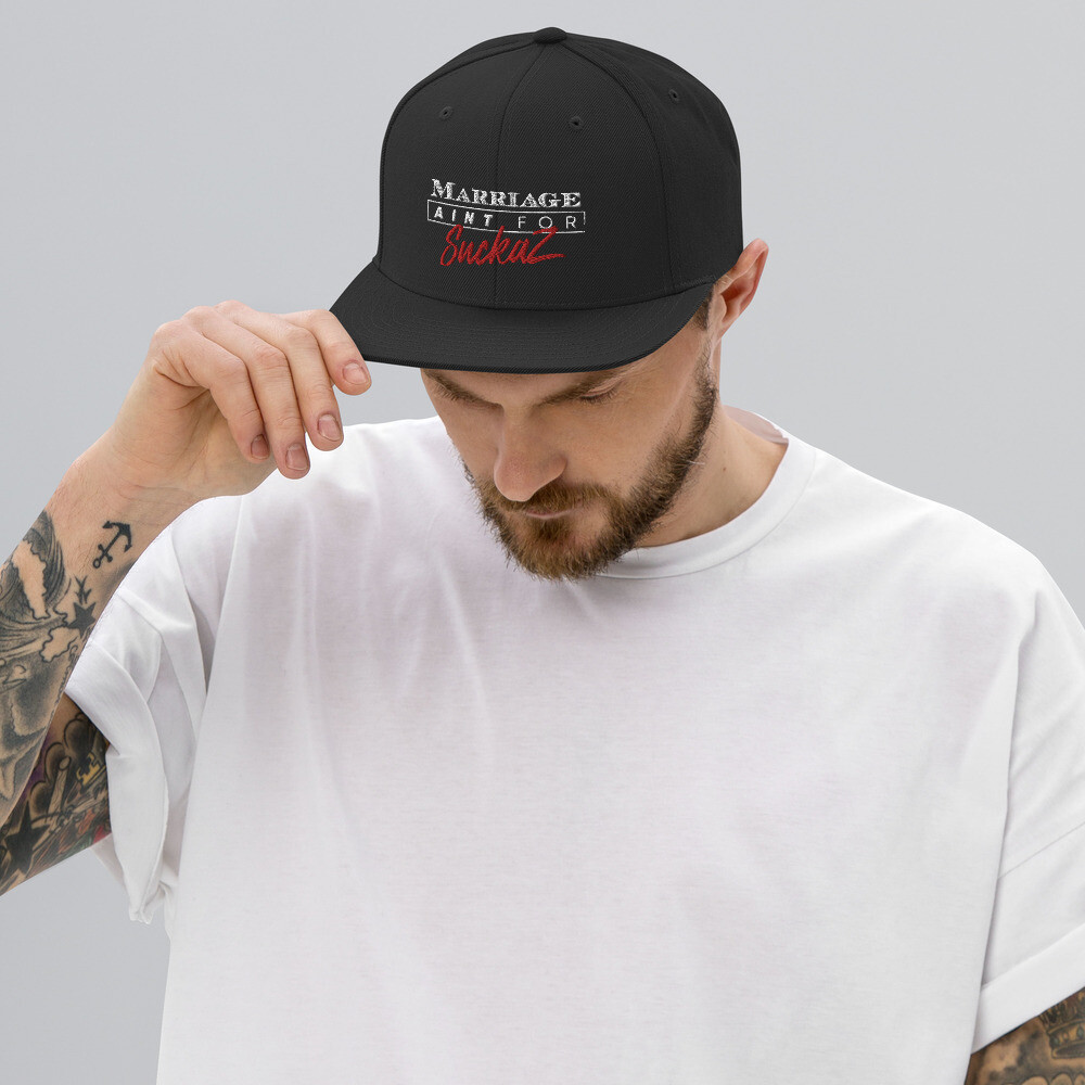 M.A.F.S. - MARRIAGE AINT FOR SUCKAZ Snapback Hat (BLACK)