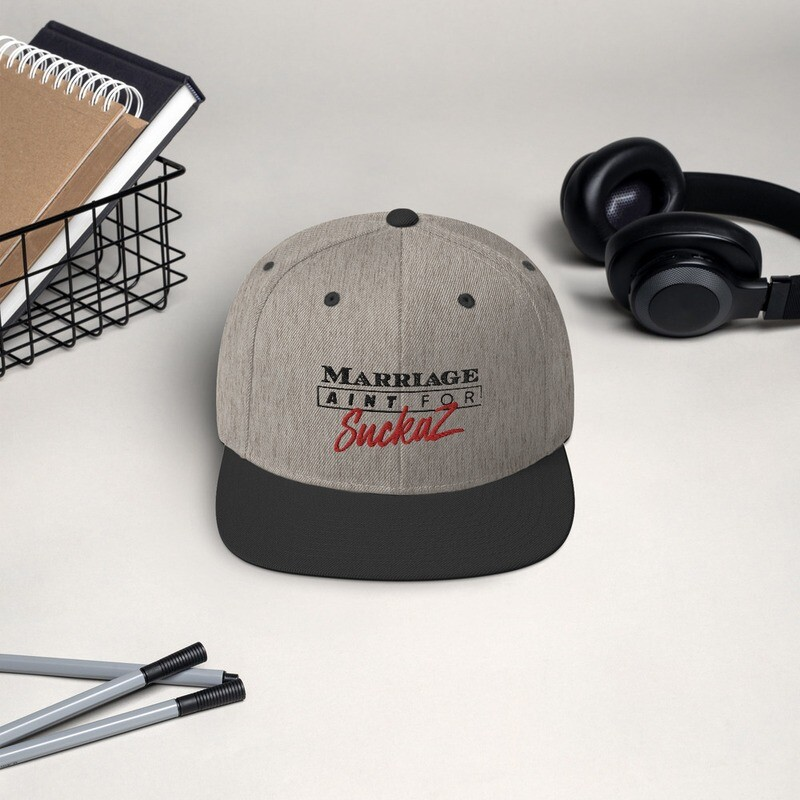 M.A.F.S. (Marriage Ain't for Suckaz) - Snapback Hat HEATHER\BLACK