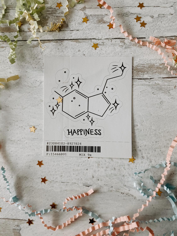 Happiness Serotonin Sticker
