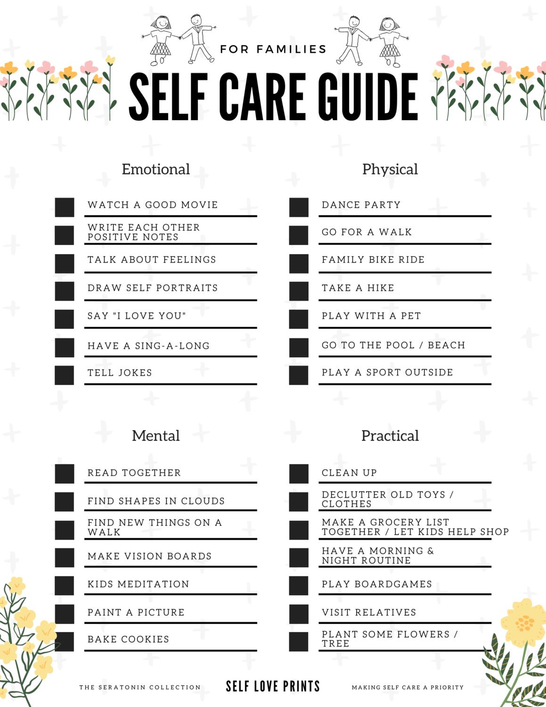 Self Care Family Guide - Digital Download