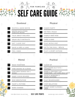 Self Care Family Guide - Digital Download