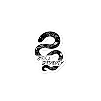 Dark & Dastardly Snake Sticker
