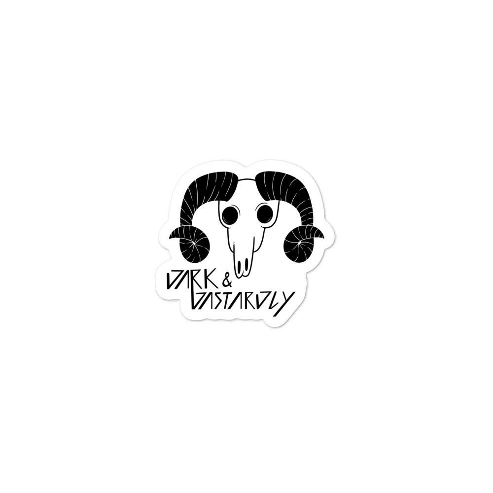 Dark & Dastardly Ram Sticker