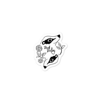 Dark Darling Badger Sticker
