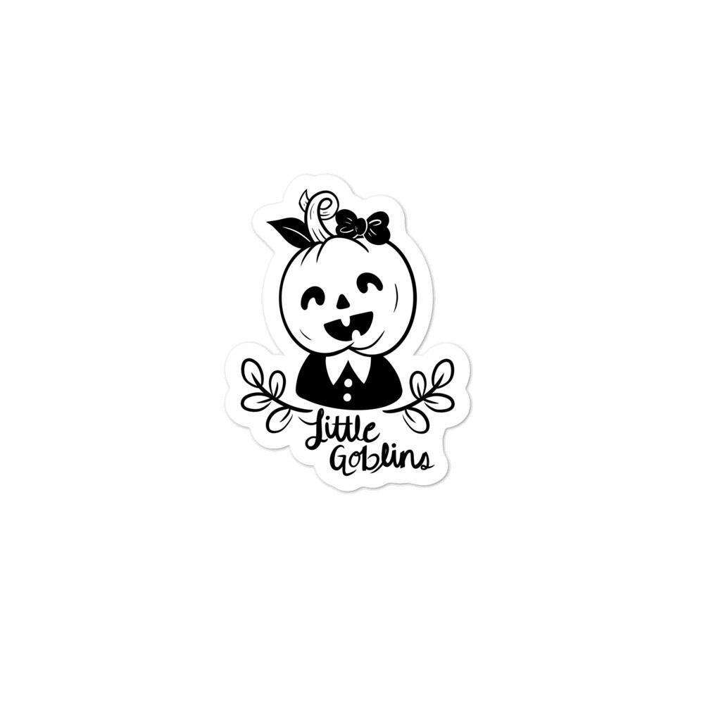 Little Goblins Pumpkin Girl Sticker