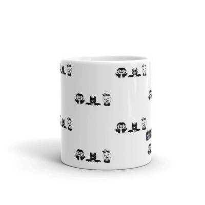 Girl Mom Pattern Mug