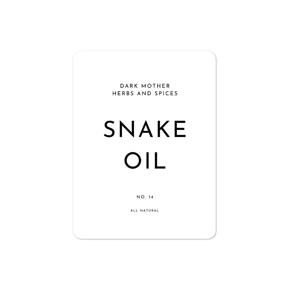 Recipe Sticker Collection: Snake Oil