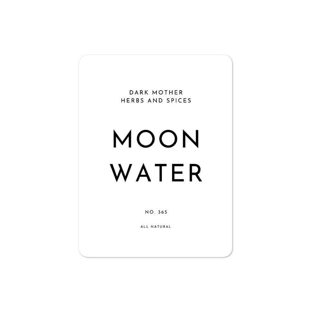 Recipe Sticker Collection: Moon Water
