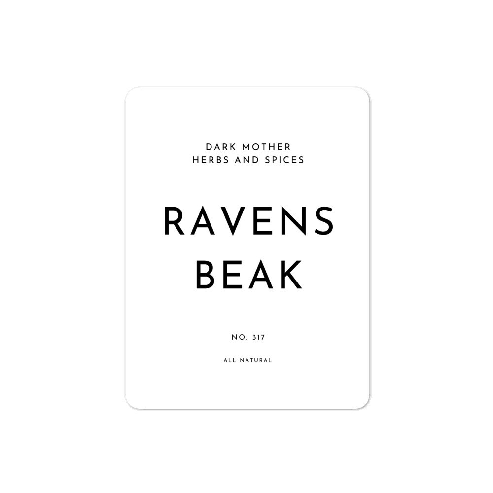 Recipe Sticker Collection: Ravens Beak