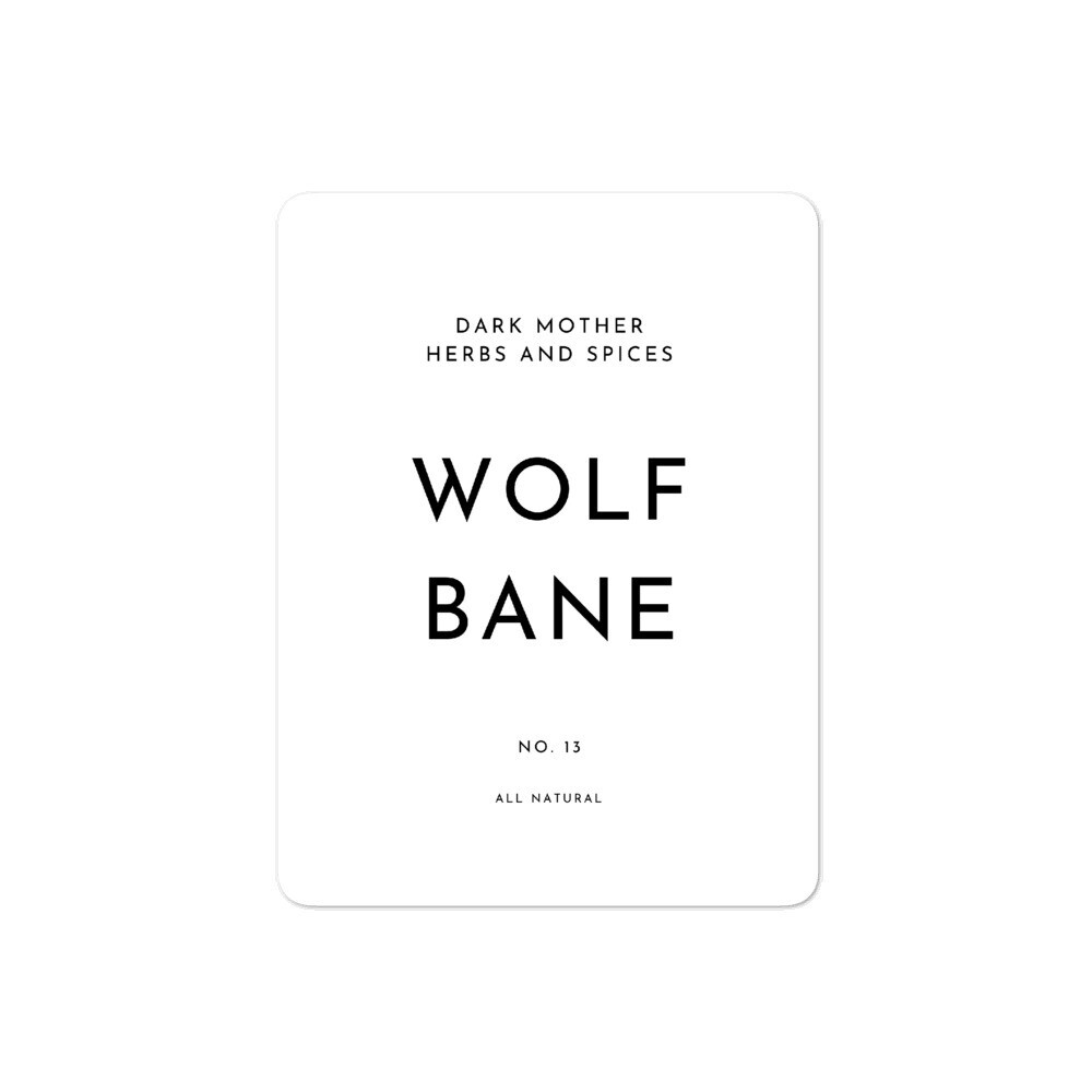 Recipe Sticker Collection: Wolf Bane