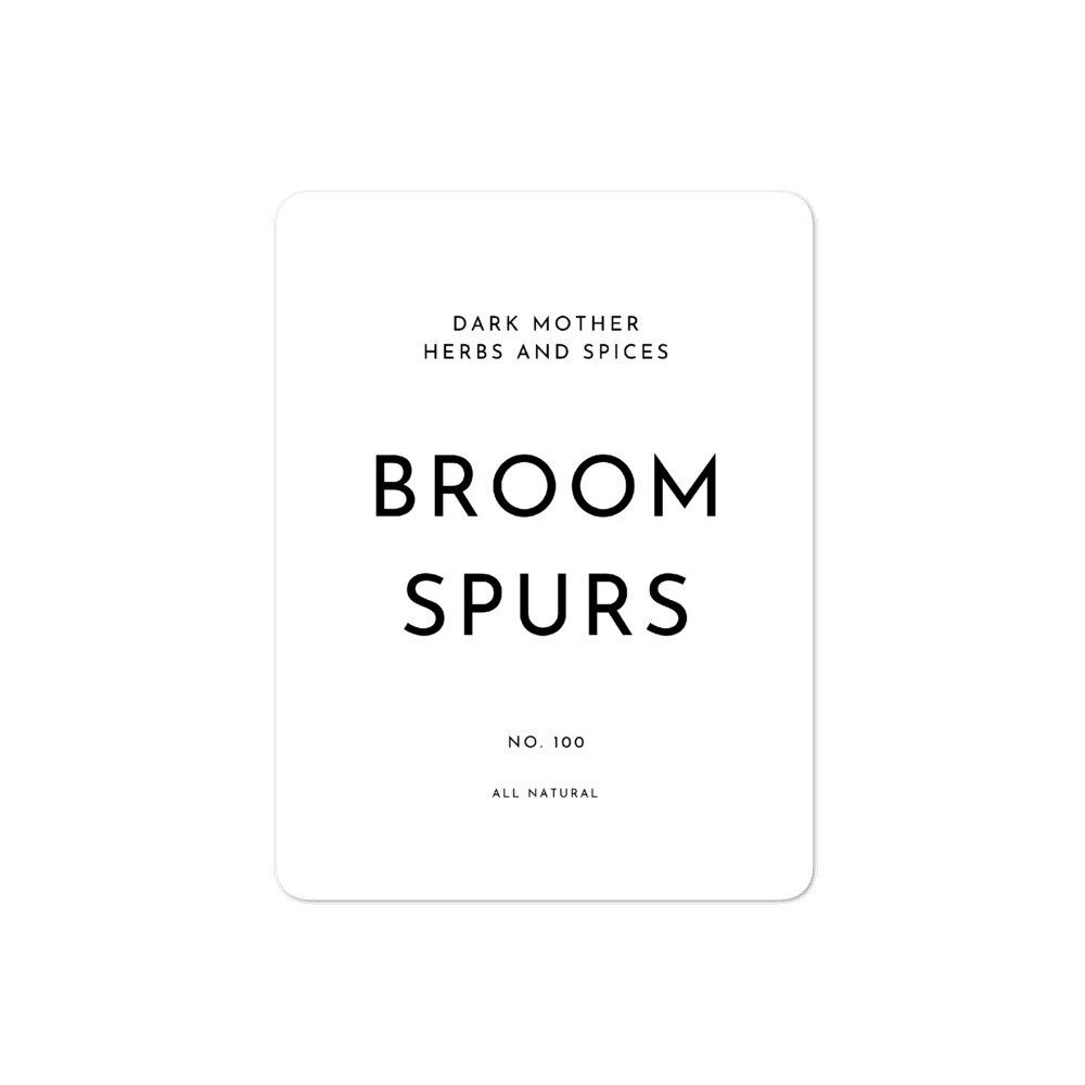 Recipe Sticker Collection: Broom Spurs