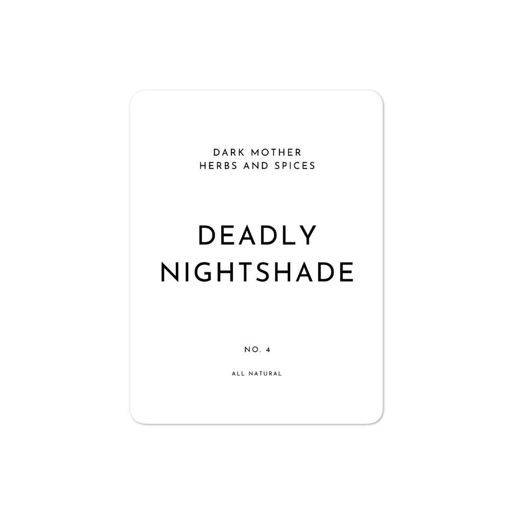 Recipe Sticker Collection: Deadly Nightshade