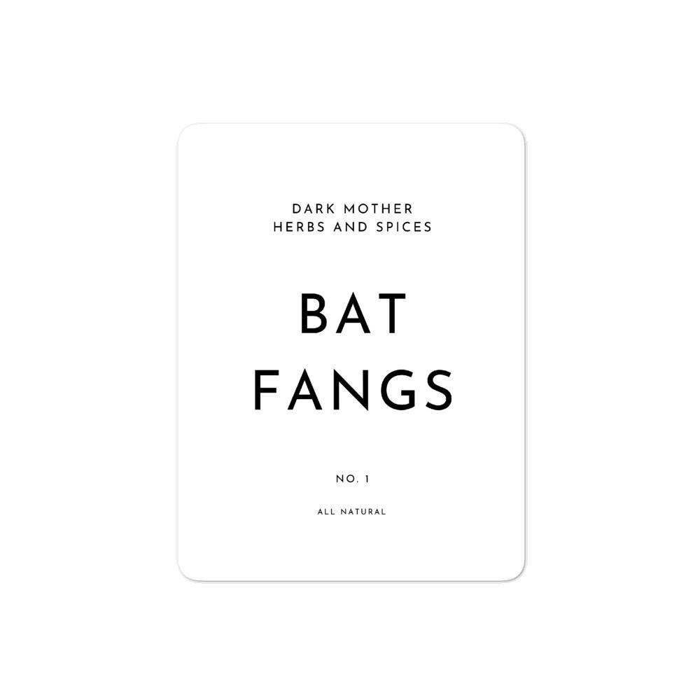 Recipe Sticker Collection: Bat Fangs