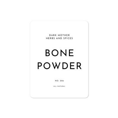 Recipe Sticker Collection: Bone Powder