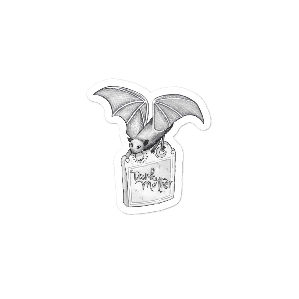 Dark Mother Bat + Headstone Sticker