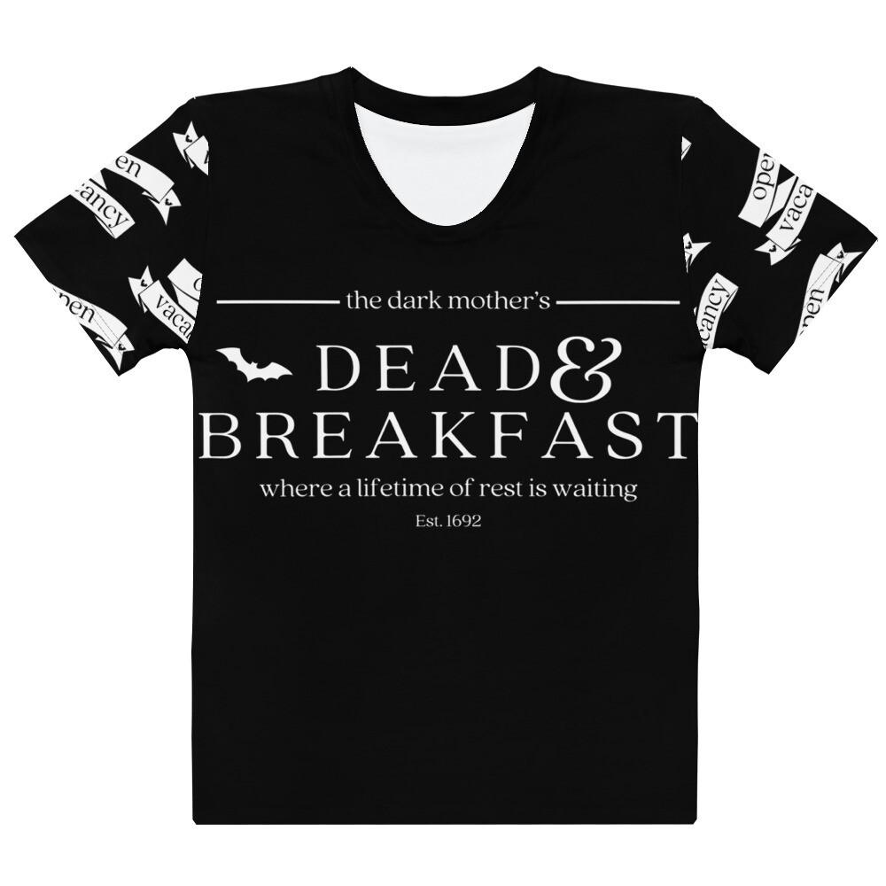 The Dark Mother's Dead & Breakfast Tee - Black (Womens)