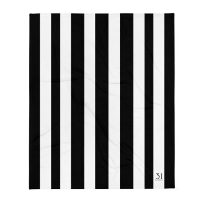 October 31st Striped Throw Blanket