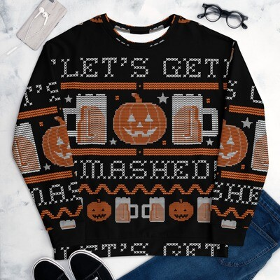 Lets Get Smashed Ugly Halloween Sweater (Unisex)
