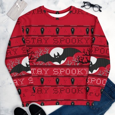 Stay Spooky Ugly Halloween Sweater (Unisex)