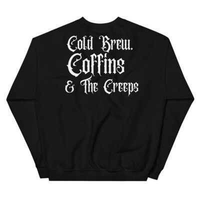 Cold Brew, Coffins, and the Creeps Sweater