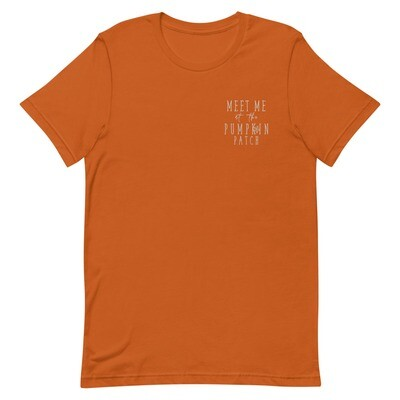 Meet Me At The Pumpkin Patch Embroidered Tee