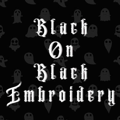 Black On Black Embroidery Option