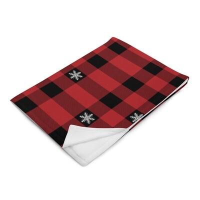 Yule Plaid Throw Blanket