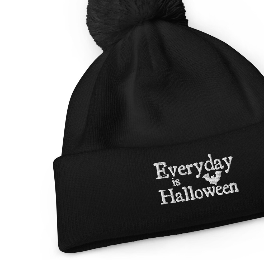 Everyday is Halloween Pom Pom Beanie