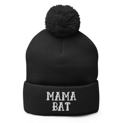 Mama Bat Pom-Pom Beanie