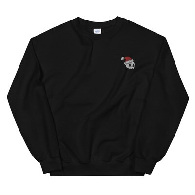 Skully Claus Embroidered Sweater
